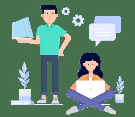Hiver Shared Inbox Finance Team Collaboration Illustration