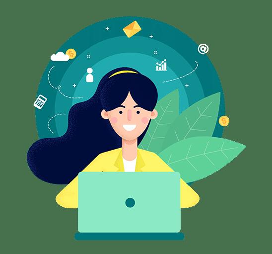 Hiver Shared Inbox Finance Team Hero Illustration